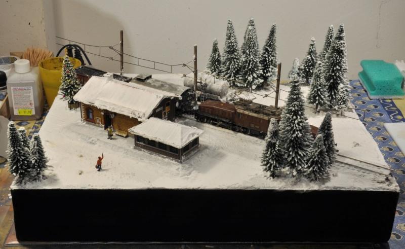 Diorama hivernale - locomotive Crocodile - 1/87 (HO) Dsc_1204