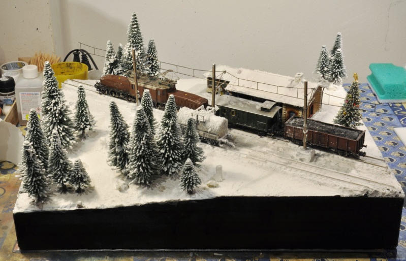 Diorama hivernale - locomotive Crocodile - 1/87 (HO) Dsc_1206