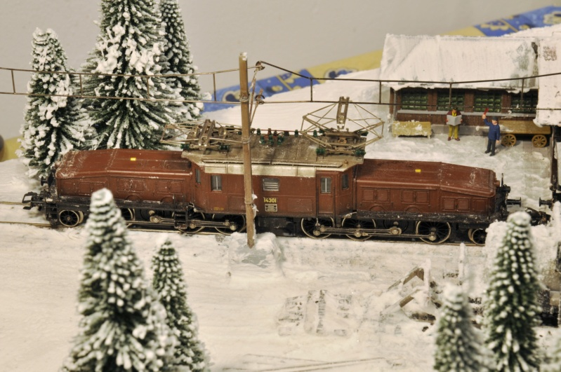 Diorama hivernale - locomotive Crocodile - 1/87 (HO) Dsc_1209