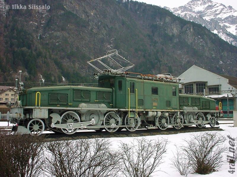 Diorama hivernale - locomotive Crocodile - 1/87 (HO) E286f410