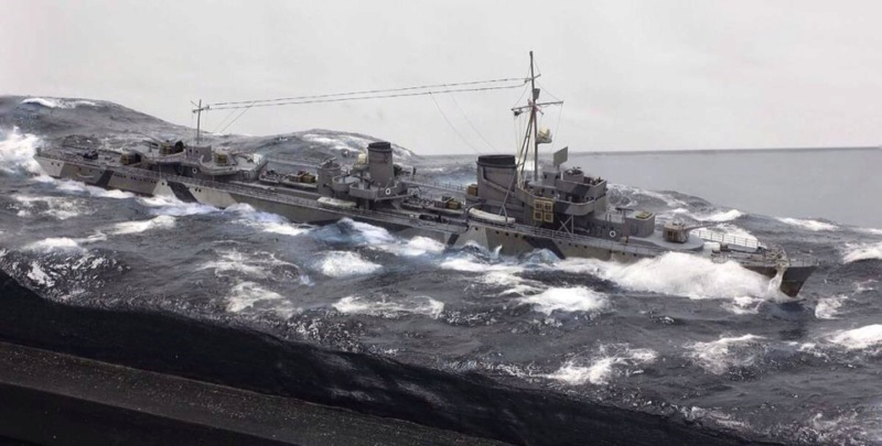 Diorama USS Saratoga - Italeri 1/720 F7665810
