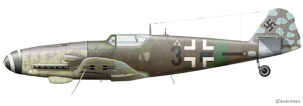 Messerschmitt Bf-109 G14/AS - JG27 - Eduard - 1/48 Me_10911