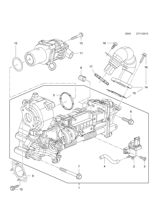 (BRICO J) JUNTA CHAPA PARA SEMIANULAR  EGR  MOTOR 1.6 CDTI 110 CV-136 CV    B16DTL- B16DTH - Página 5 29452310