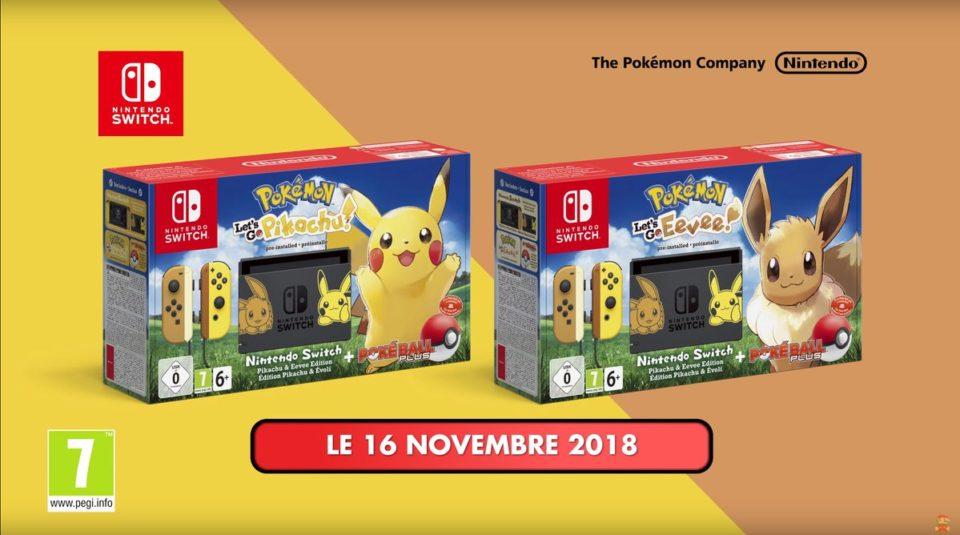 Nintendo Switch édition Pokemon Let's Go Pikachu / Evoli Une-ni10