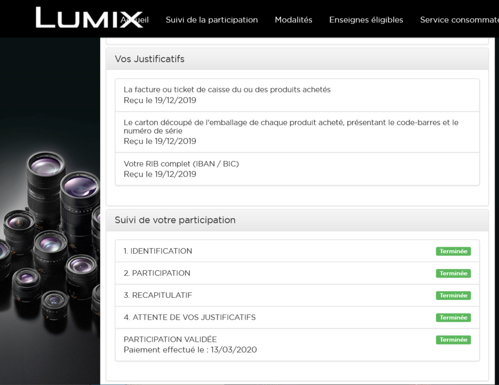 CASH BACK RESOLU Lumix-10