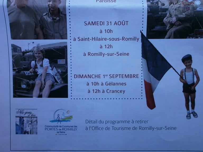 75eme Anniversaire de la liberation Romilly sur seine (10)le 30/31 aout et 1 sep 75_des10