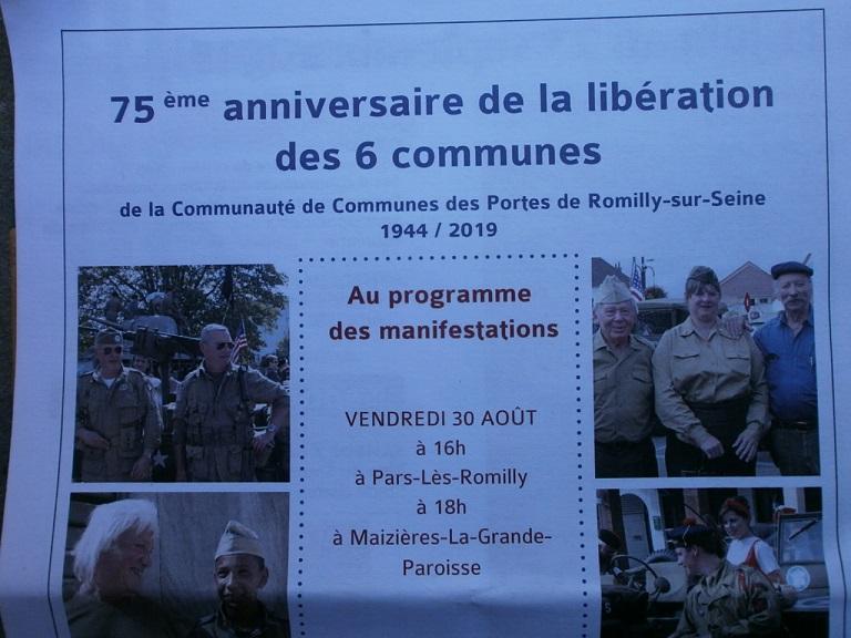75eme Anniversaire de la liberation Romilly sur seine (10)le 30/31 aout et 1 sep 75_des11