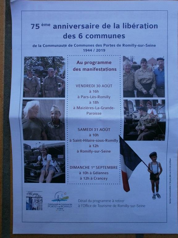 75eme Anniversaire de la liberation Romilly sur seine (10)le 30/31 aout et 1 sep 75_des12