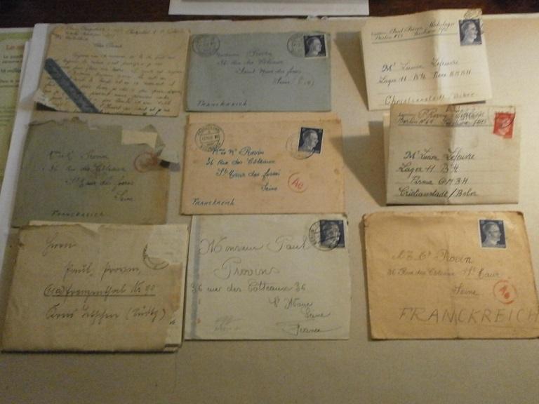 Lot papiers STO Allemagne et rationnement après guerre même personne Lot_ma10