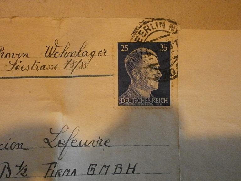Lot papiers STO Allemagne et rationnement après guerre même personne Lot_ma11