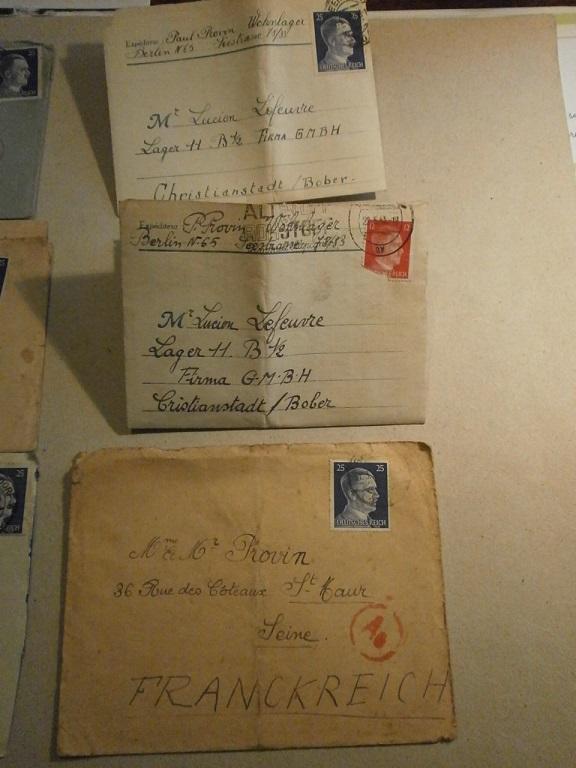 Lot papiers STO Allemagne et rationnement après guerre même personne Lot_ma15