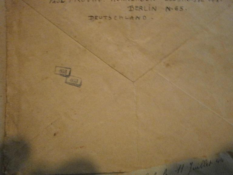 Lot papiers STO Allemagne et rationnement après guerre même personne Lot_ma16