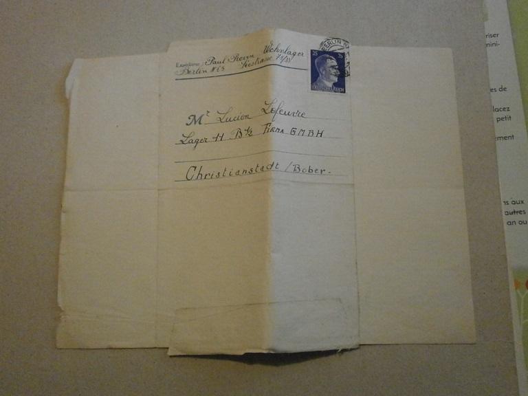 Lot papiers STO Allemagne et rationnement après guerre même personne Lot_ma17