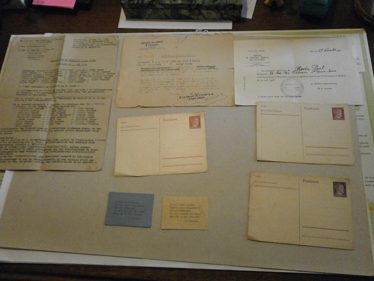 Lot papiers STO Allemagne et rationnement après guerre même personne Lot_ma19