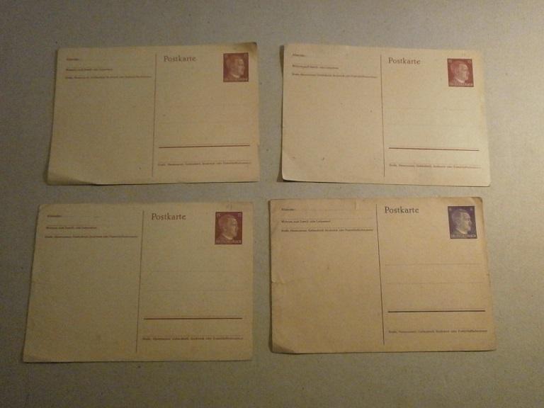 Lot papiers STO Allemagne et rationnement après guerre même personne Lot_ma22