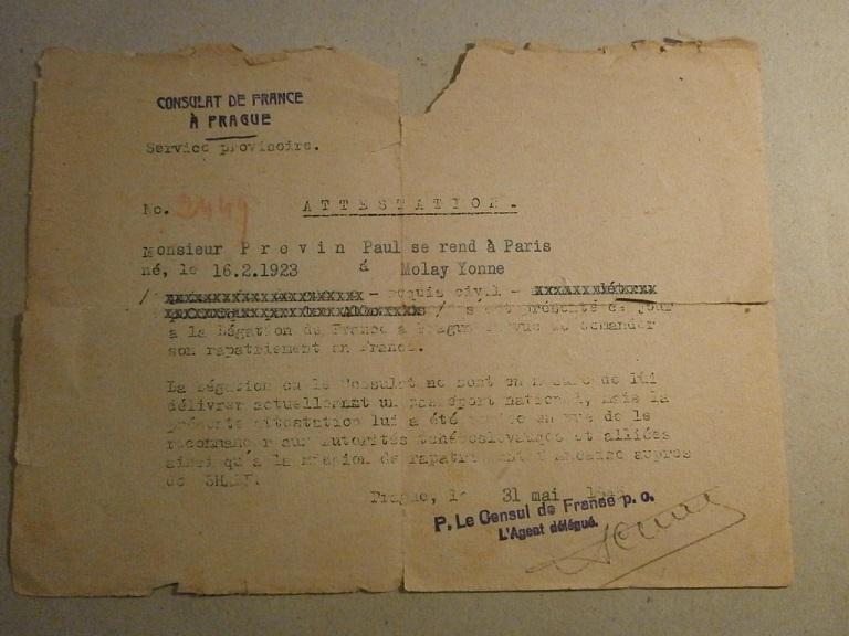 Lot papiers STO Allemagne et rationnement après guerre même personne Lot_ma28
