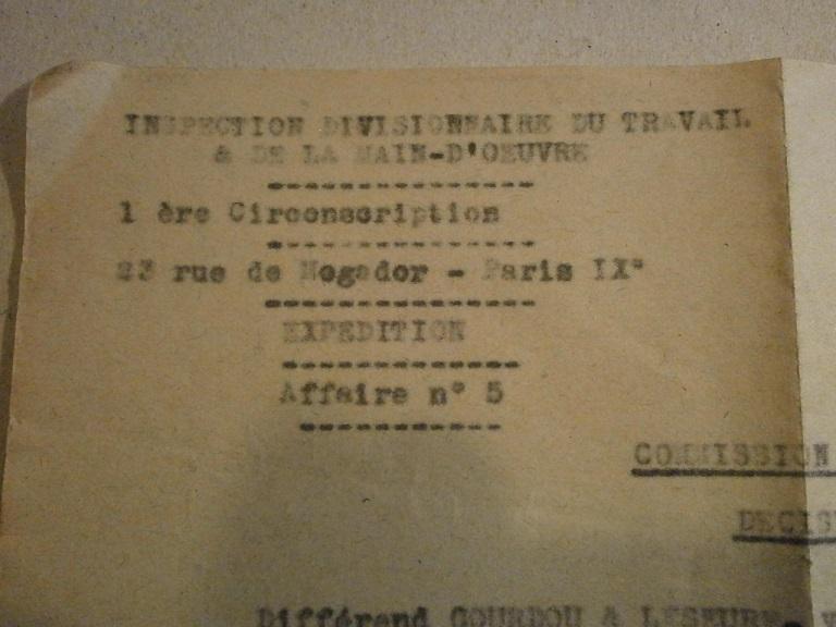 Lot papiers STO Allemagne et rationnement après guerre même personne Lot_ma32
