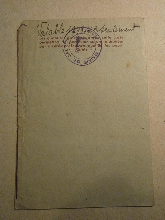 Lot papiers STO Allemagne et rationnement après guerre même personne Lot_ma38