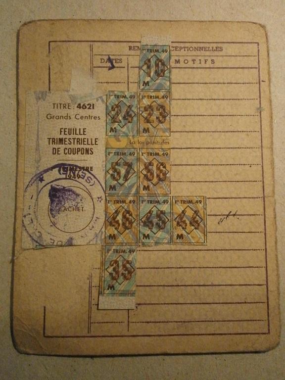 Lot papiers STO Allemagne et rationnement après guerre même personne Lot_ma42