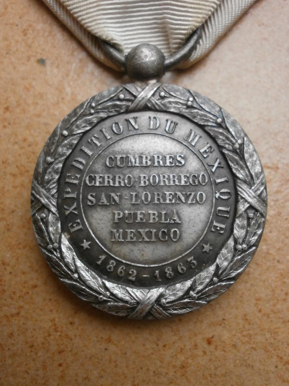 Medaille du Mexique  Camerone Medai199