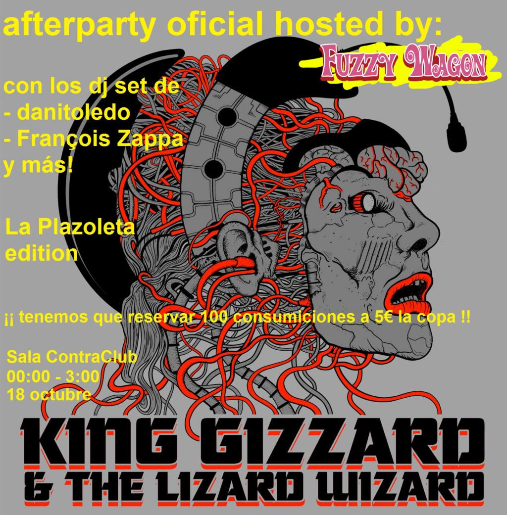 AFTER PARTY FORERA - 18 octubre Madrid, tras el concierto de King Gizzard. ¡El bar es nuestro! Cartel10