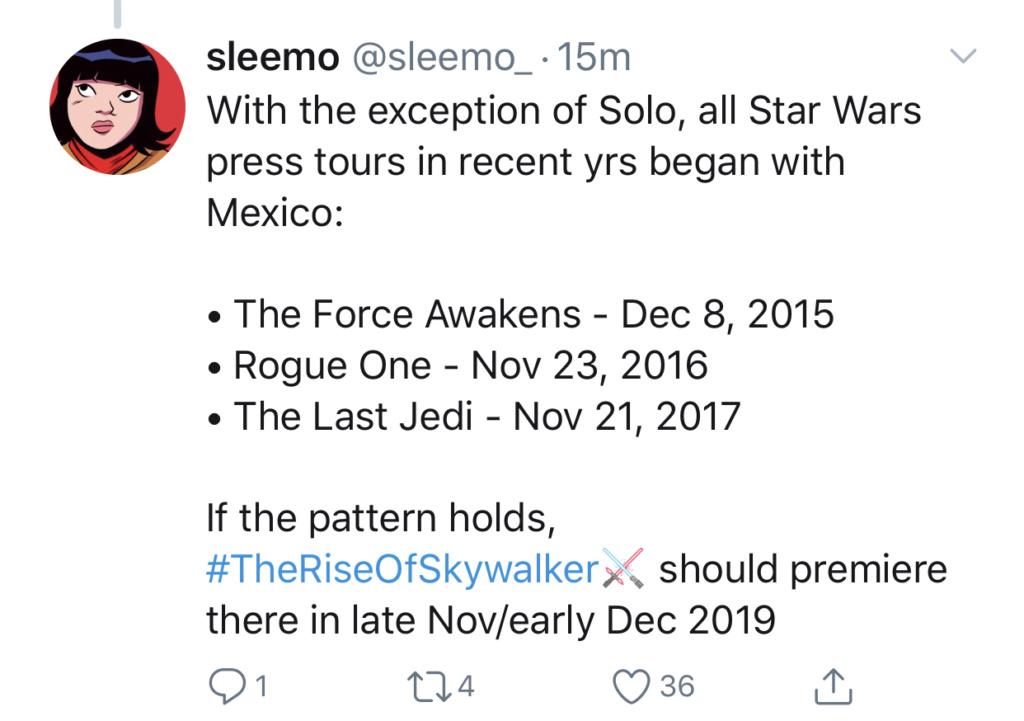Episode IX: The Rise of Skywalker Press Tour & Interviews - Page 11 F09e5a10