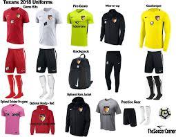 Dallas Texans Select Soccer uniform 8ed2b610