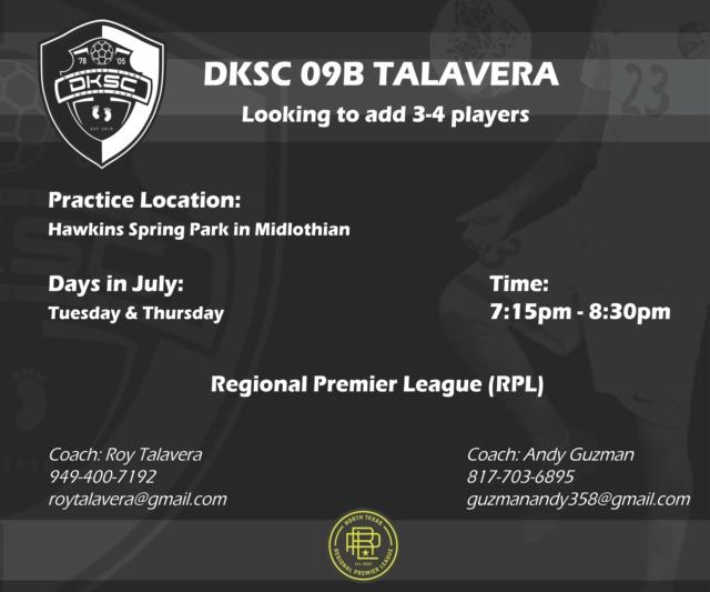 DKSC 09B Talavera - Looking to add Players Dksc_b13