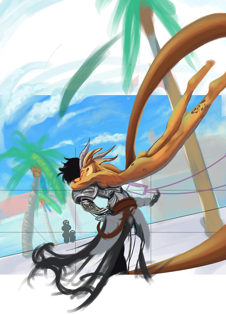 Wip et croquis de Steeve_Endo. Dragon10