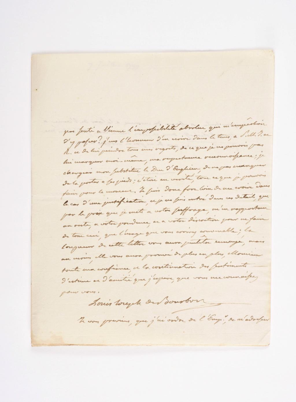 Lettre de Louis-Joseph de Bourbon, prince de Condé (Révolution) 15531610