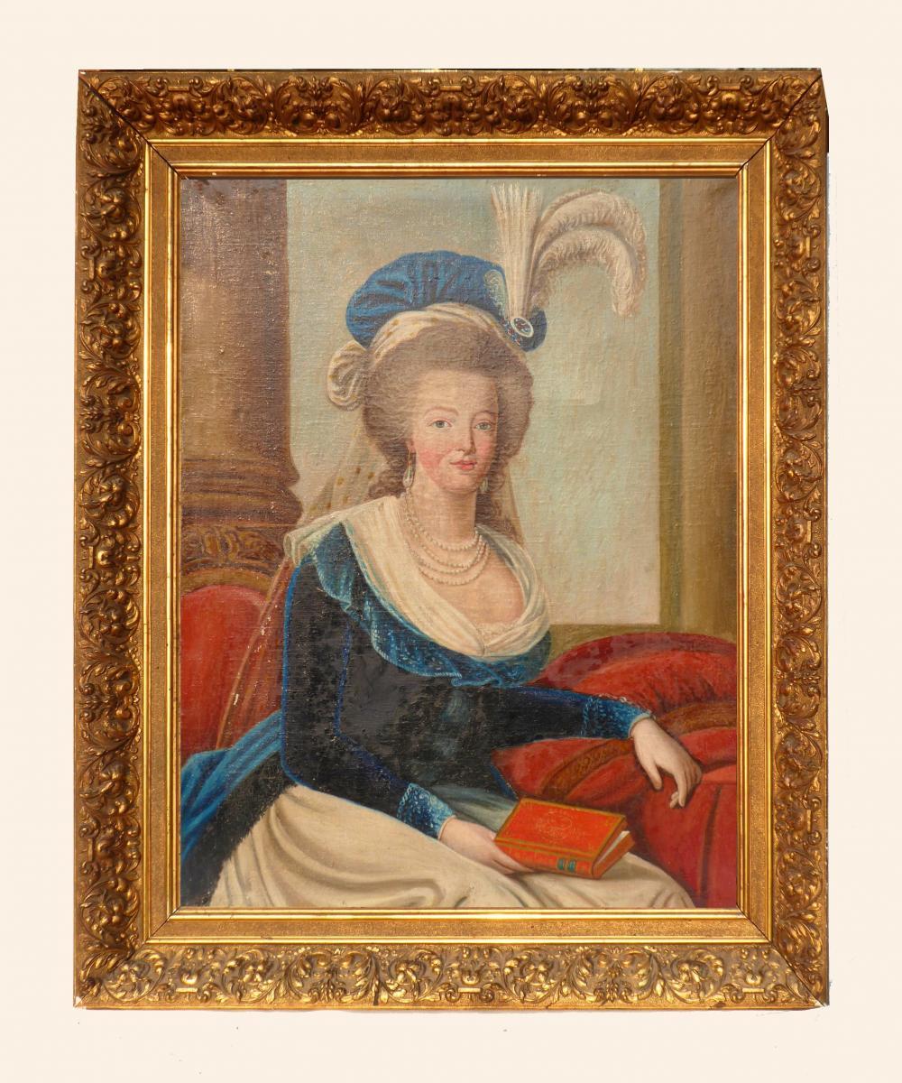 Marie-Antoinette au livre en robe bleue - Page 3 45750310