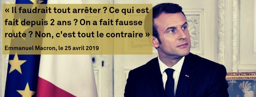 Macron contre la suppression d'un jour férié et un report de l'âge de la retraite Em10