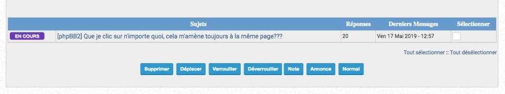 [phpBB2] Que je clic sur n'importe quoi, cela m'amène toujours à la même page??? Select10