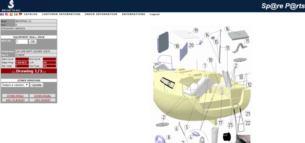 Site Beneteau Spares Parts USA Captur12