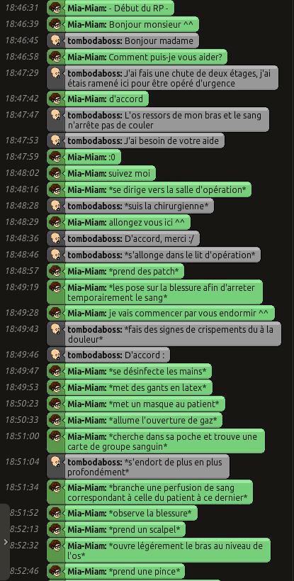 [C.H.U] Rapports d'actions RP de Mia-Miam 0113