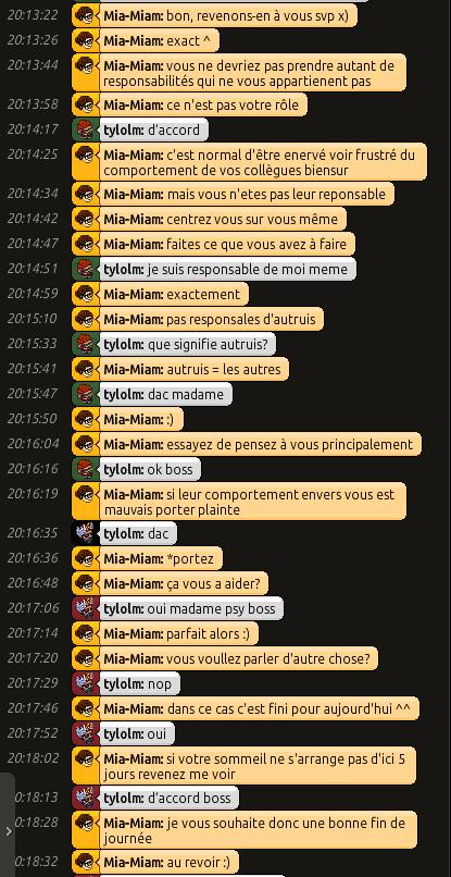 [C.H.U] Rapports d'actions RP de Mia-Miam 0326
