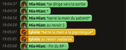 [C.H.U] Rapports d'actions RP de Mia-Miam 310