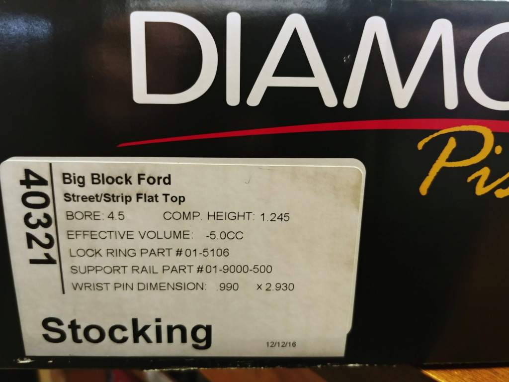 Diamond A460 pistons with upgraded pins 20190113