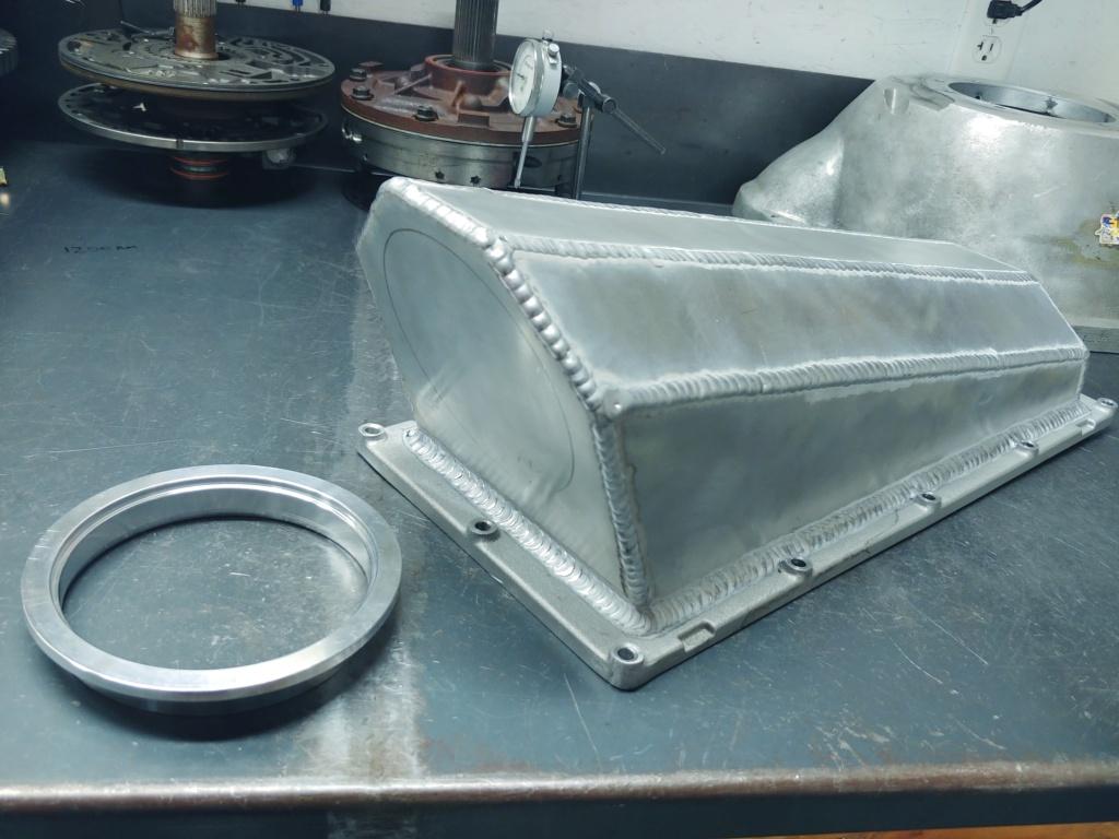 Custom sheetmetal efi A460 tunnel ram upper intake 20201212