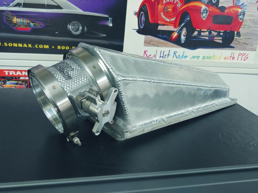 Custom sheetmetal efi A460 tunnel ram upper intake 20201213