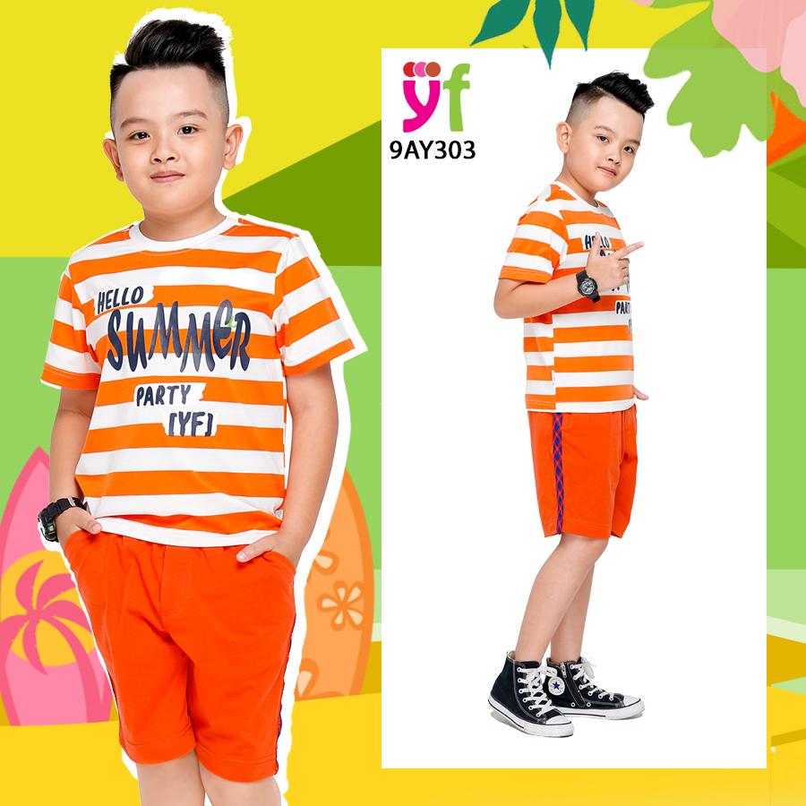 Bộ mặc ở nhà bé trai từ thun cotton 4 chiều Bst_mo10
