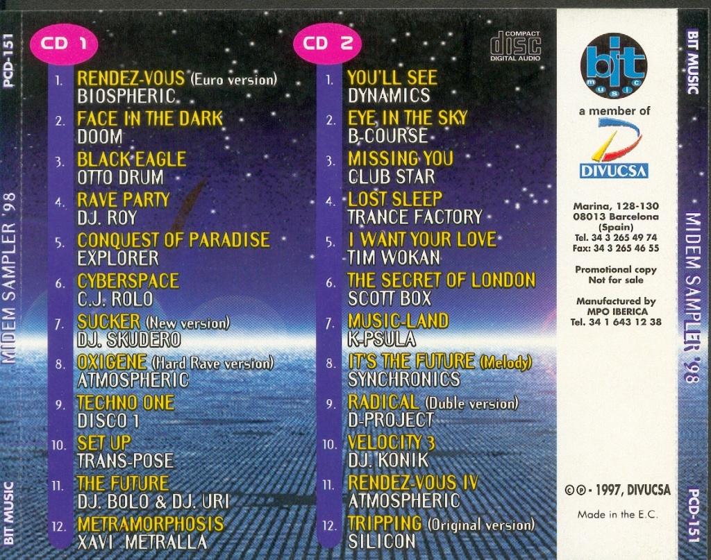 MIDEM SAMPLER 98 (1997) BIT MUSIC Caratu11