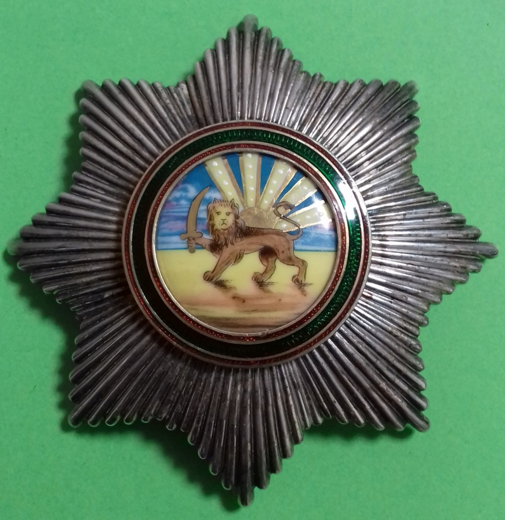 Ordre du Lion et du Soleil de Perse (ou Ordre du Homayoun d'Iran) Plaque10