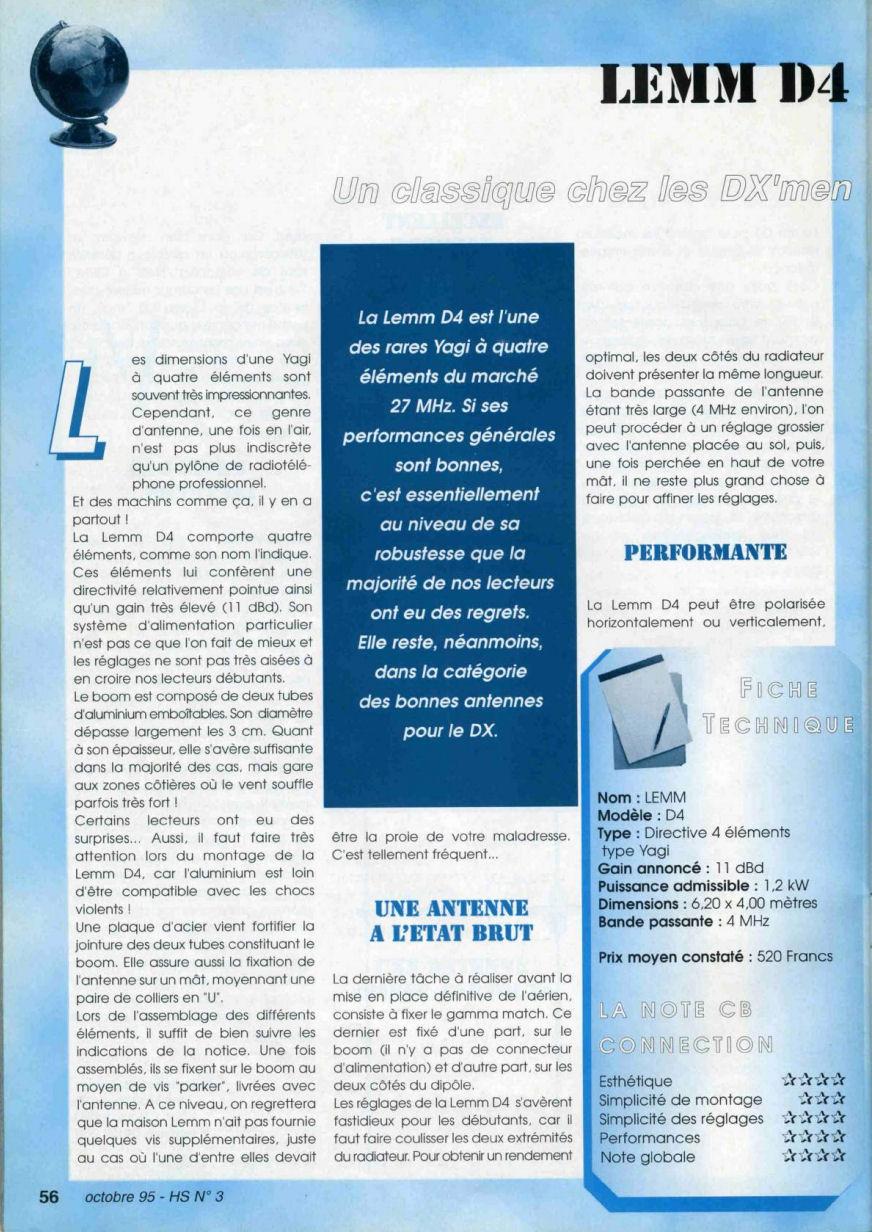CB Connection - HS Spécial Antenne Fixes (Octobre 1995) Image118