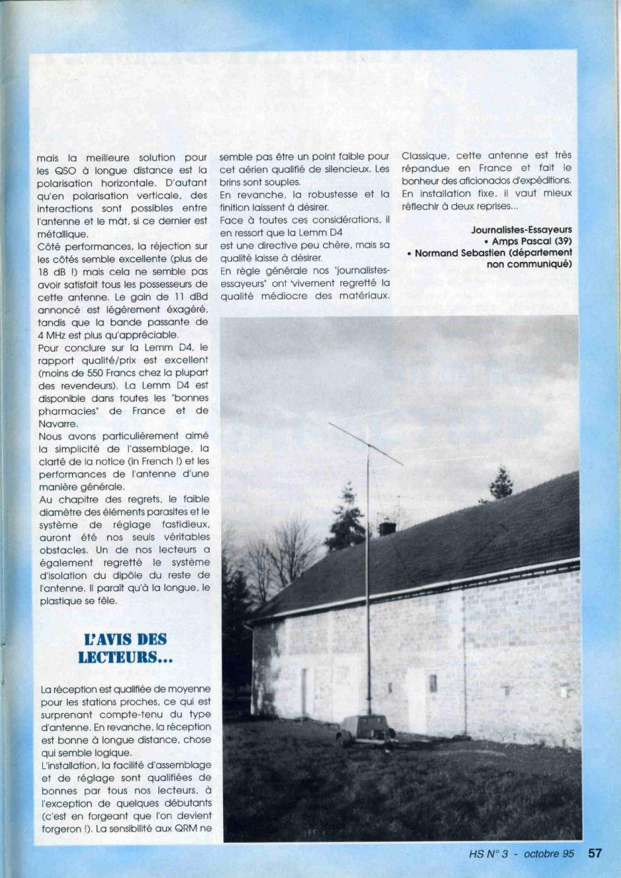 CB Connection - HS Spécial Antenne Fixes (Octobre 1995) Image119