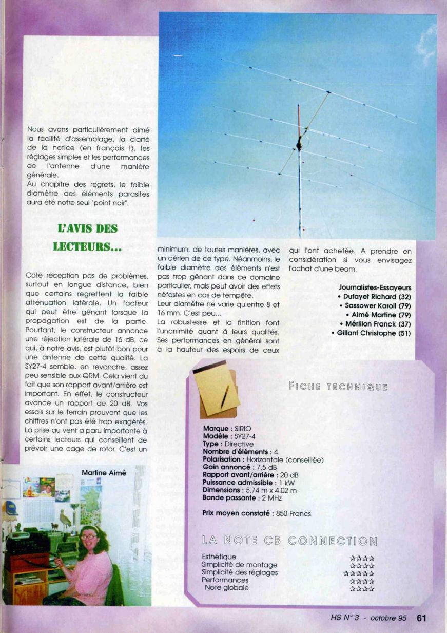 CB Connection - HS Spécial Antenne Fixes (Octobre 1995) Image122