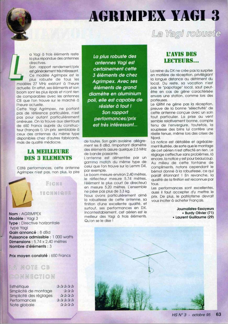 CB Connection - HS Spécial Antenne Fixes (Octobre 1995) Image124