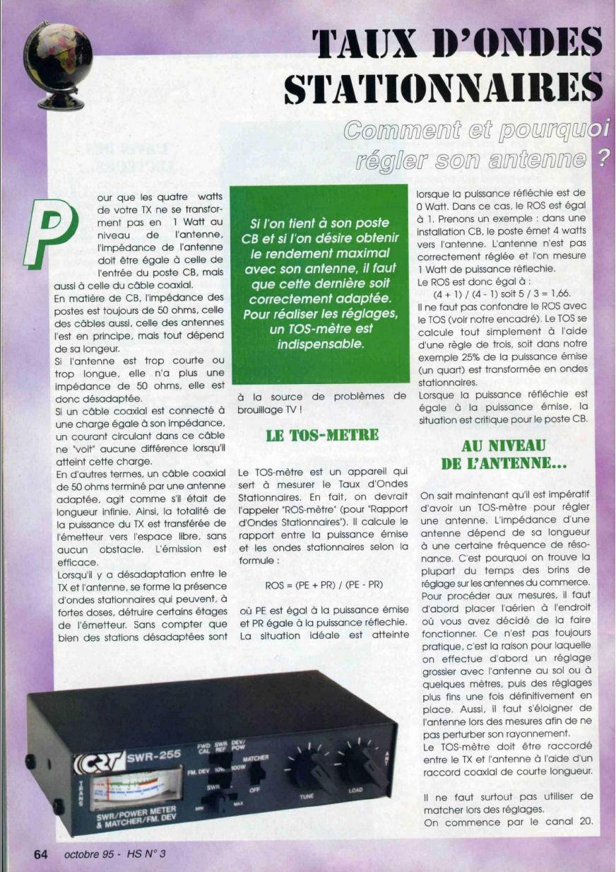 CB Connection - HS Spécial Antenne Fixes (Octobre 1995) Image125