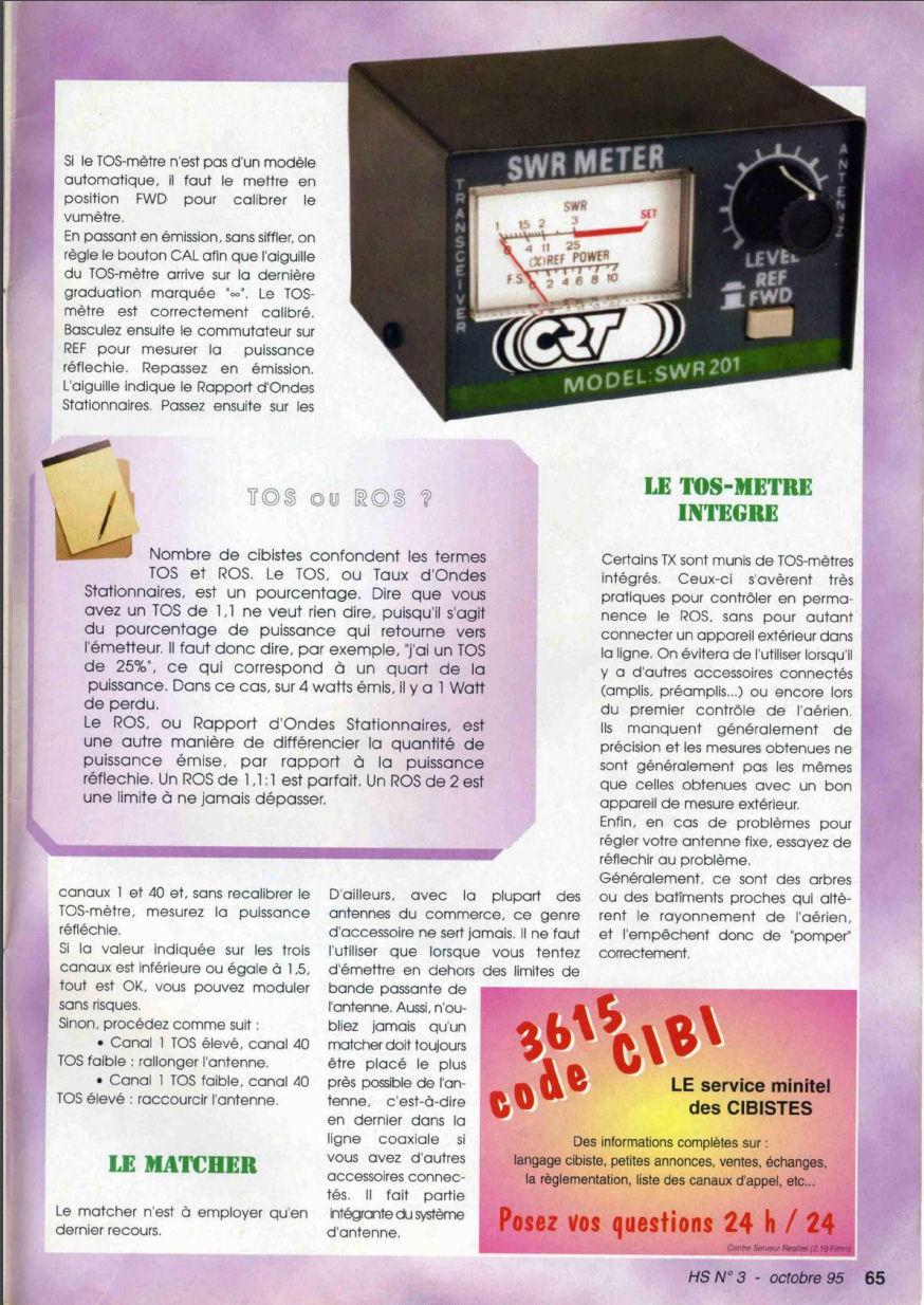 CB Connection - HS Spécial Antenne Fixes (Octobre 1995) Image126