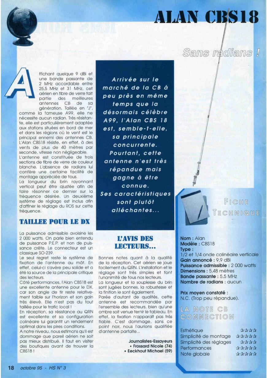 CB Connection - HS Spécial Antenne Fixes (Octobre 1995) Image310